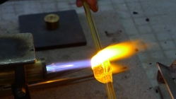 Making Beads with a Torch, Murano Glass Beads
